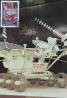 MOON SPACE Station LUNA 17 And MOON Car LUNOCHOD - 2 / Russia Maxi Card - Carte Maximum - Rusland En USSR
