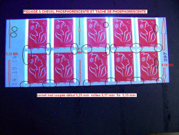 VARIETES  CARNET MARIANNE DE LAMOUCHE ANNEE 2005  NEUF 3 SCANNE - Varieties: 2000-09 Mint/hinged