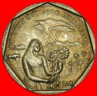 ★RAIN★INDIA ★ 1 RUPEE 1988! FAO! LOW START★ NO RESERVE! - Inde