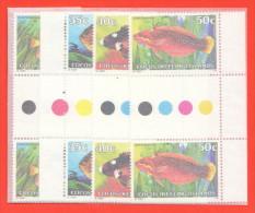 COC SC# 43-6 MNH GP  1979 Fish Gutter Pairs, CV $5.10+ - Cocos (Keeling) Islands