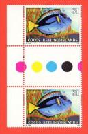 COC SC #49 MNH GP  1979 Fish Gutter Pair, CV $2.30+ - Cocos (Keeling) Islands