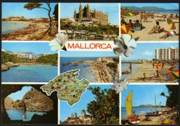 Landkarte - Insel Mallorca - Gelaufen - Landkarten
