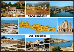 Landkarte - Insel Kreta- Gelaufen - Landkarten