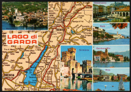 Landkarte - Gardasee Und Umgebung - Gelaufen - Landkarten