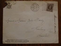 N°196-20C Gand-19/09/1923 -enveloppe Vendue  Au Profit Des Invalides De Guerre - 1922-1927 Houyoux