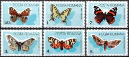 ROMANIA, 1985, Butterflies, Insects, MNH (**), LPMP/Sc 1130/3281-86 - Butterflies
