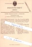 Original Patent - Ludwig Theodor Wulfert In Düsseldorf , 1882 , Taschenfeuerzeug , Feuerzeug !!! - Sonstige