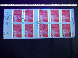 VARIETES  CARNET MARIANNE DE LUQUET  ANNEE 1997   NEUF 4 SCANNE - Varieties: 1990-99 Mint/hinged