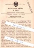 Original Patent - La Societe Diligeon & Co. à Paris , 1898 , Boîte De Vitesses Pour Véhicules Automobiles !!! - KFZ
