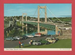 TAMAR BRIDGE PLYMOUTH DEVON VOITURE VOITURES  CAR   / RECTO VERSO - Plymouth