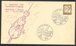 Germany Deutschland 1962 Card: Space Weltraum; DRG Raketen Und Raumfahrt Tagung Koblenz - FDC & Gedenkmarken