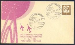 Germany Deutschland 1962 Card: Space Weltraum; DRG Raketen Flugtag Sahlenburg; Mobile Post - FDC & Gedenkmarken