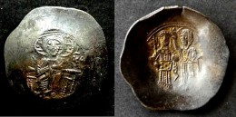 BYZANCE -  MANUEL I COMNENE  (1143-1180)  - ASPRON TRACHY  - BILLON - CONSTANTINOPLE - BYZANTINE  -T - Byzantines