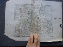 Révolution 1795, Flandre, Picardie, Champagne,  Etc  Carte R. De Vaugondy , Réhaussée Couleurs GONFREVILLE; Ref 414 - Carte Geographique