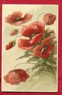 DVO1-34 A. Haller, Bouquets De Pavots . Non Circulé. - Haller, A.