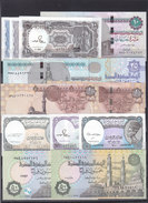 EGYPT 5 10 25 50 PT 1 5 10 EGP 1982 2017 SET OF X 13 UNC NOTES Different Types LOT */* - Egitto