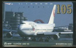 Avion Avions Japan Airlines Télécarte Japon Airplane Airplanes Phonecard Japan - Avions