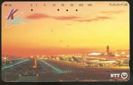Aeroport Kansai Avion Avions Télécarte Japon Kansai Airport Airplane Airplanes Phonecard Japan - Avions