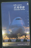 Aeroport Hiroshima Avion Avions Télécarte Japon Hiroshima Airport Airplane Airplanes Phonecard Japan - Avions
