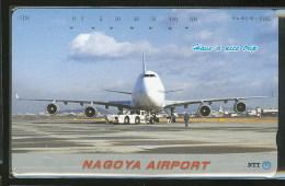Aeroport Nagoya Avion Avions Télécarte Japon Nagoya Airport Airplane Airplanes Phonecard Japan - Avions