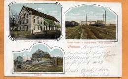 Theissen Bahnhof Zeitzer Paraffin U. Solarol Fabrik 1905 Postcard - Sonstige