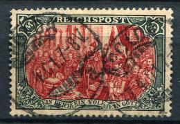 27881) DEUTSCHES REICH 5.- Reichspost gestempelt aus 1900, 500.- �
