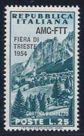 Italy,Trieste Zone A, Scott # 204 Mint Hinged Italy Stamp Overprinted, 1954 - 7. Triest
