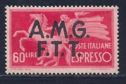 Italy,Trieste Zone A, Scott # E4 Unused No Gum Italy Special Delivery Stamp Overprinted, 1948 - 7. Trieste