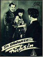 """Das Neue Film-Programm Von Ca. 1950  -  """"Die Schwarze Füchsin""""  -  Mit Jennifer Jones , David Farrar - Magazines"""