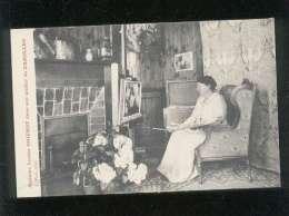 50 carolles madame louise goichot dans son atelier de carolles �dit. puel , femme peintre