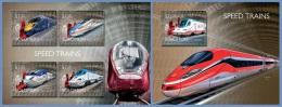 slm14503ab Solomon Is. 2014 Speed trains 2 s/s