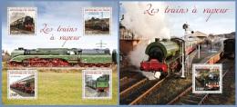 nig14315ab Niger 2014 Steam Train 2 s/s