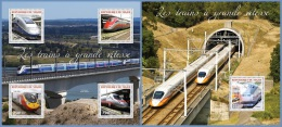 nig14314ab Niger 2014 Speed Train 2 s/s