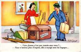 CARTE  Humoristique - Illustrateur ELIE  LECHAT - Humour