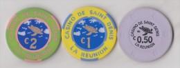 Lots De 3 Jetons De Casino De Saint Denis, La Réunion (974) - Casino
