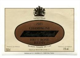 Etiquette Champagne    Reims  HEIDSIECK   Magnum  Rosé   1985  A  VOIR  !!!!!!! - Reclame