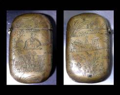 """Bel étui à Cigarette Du Tonkin: Les Travaux Des Champs """"Bronze"""" Ciselé /Old Cigarette Holder From Tonkin (XIXth Century) - Art Asiatique"""