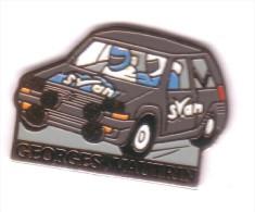 V47 Pin´s Garage Vautrin Vosges Renault Rallye R5 Signé Svan Epinal Eaf Achat Immediat - Renault
