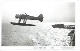 """ CATAPULTAGE "" 1937  (  - AVION - CP PHOTO: MARIUS BAR 9 X 14 ) - Avions"
