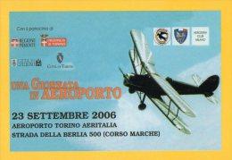 [DC0946] CARTOLINEA - UNA GIORNATA IN AEROPORTO - TORINO 23 SETTEMBRE 2006 - Unclassified