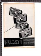 CO-1829 DUCATI MACCHINE FOTOGRAFICHE PUBBLICITA - Chromos