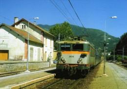 RU 0672 - Train, Loco BB 8616 En Gare - LUZENAC GARANOU - Ariège 09 - SNCF - France