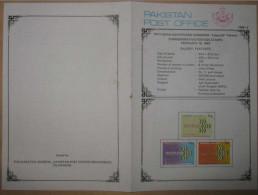 PAKISTAN 1989 MNH VERY RARE BROCHURE LEAFLETADASIA89 PAKISTAN 16TH ASIAN ADVERTISING CONGRESS - Pakistan