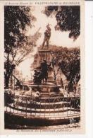 VILLEFRANCHE DE ROUERGUE 33 L'AVEYRON ILLUSTRE LE MONUMENT DES COMBATTANTS (1870.1871) - Monuments Aux Morts
