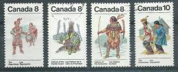 CANADA  Yvert  N° 520-524-563-614  INDIENS - Costumes