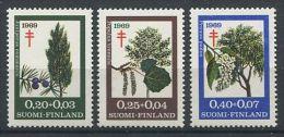 138 FINLANDE 1969 - Arbres Croix Rouge (Yvert 624/26) Neuf **(MNH) Sans Trace Charniere - Finlandia