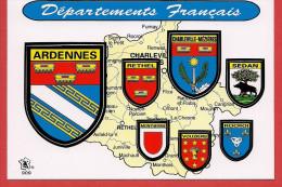 Carte Contour Géographique Du Département Des ARDENNES - Non Classificati