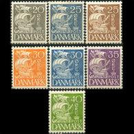 DENMARK 1933 - Scott# 232-8 Caravel Set Of 7 LH (XA717) - Unused Stamps