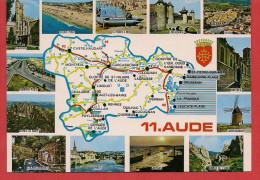 Carte Contour Géographique Du Département De L'AUDE - Unclassified