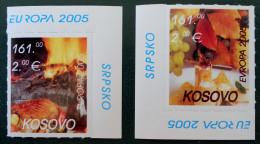 EUROPA 2005 - NEUFS ** - PH 0035 - COINS DE FEUILLES - EMISSION KOSOVAR - Kosovo